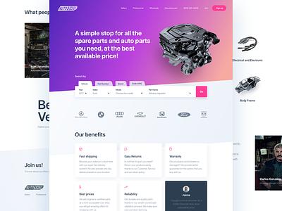 Web Design for a client - Under development clean client cards designer webpage homepage purple gradient landing
