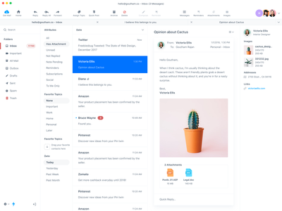 Interface redesign for Postbox Mac App osx dashboard designer minimal design interface redesign postbox mac app ux ui