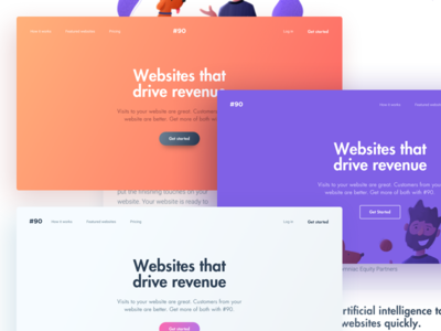 Header Exploration styleguide ui cards website hero illustration gradient designer palette colors headers
