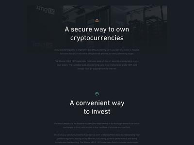 'A' Fund - Webdesign card fund designer homepage landing gradient crypto dark site website webpage