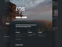 eos.io - Landing page