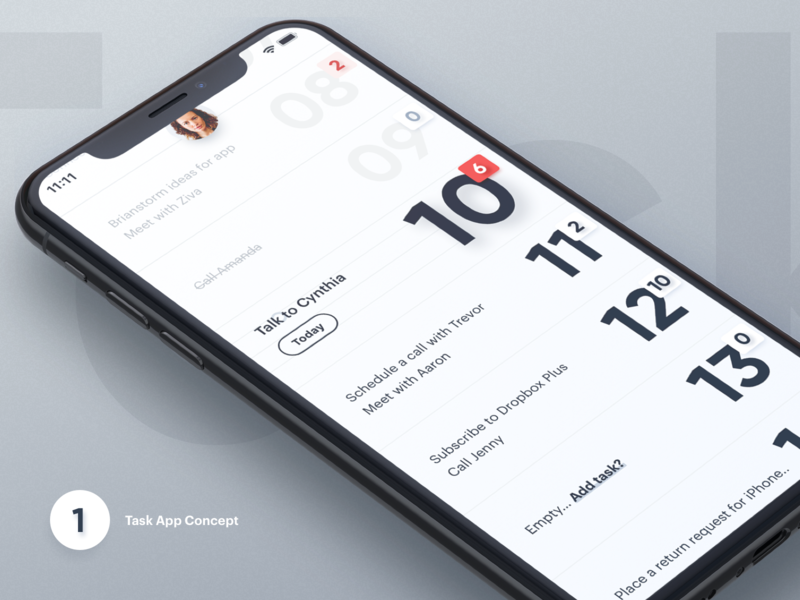 Task App - Concept designer concept ux design interface iphone ios task app task white ui  ux ui