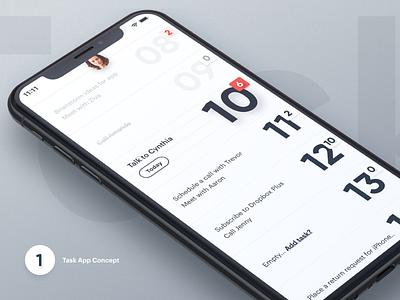 Task App - Concept designer concept ux design interface iphone ios task app task white ui  ux ui