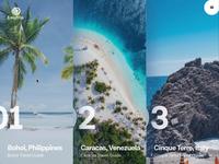 Simple travel guide website