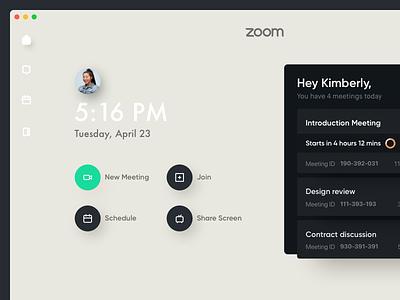 Zoom Mac App Concept design - Sneak peek redesign designer design concept ux ui uiux osx mac video zoom