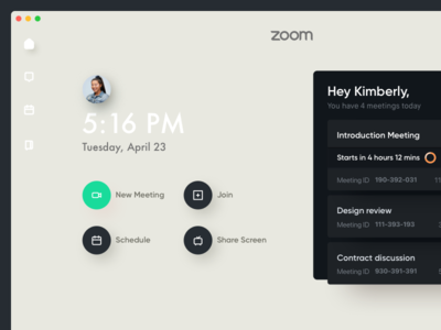 Zoom Mac App Concept design - Sneak peek redesign designer design concept ux ui uiux osx mac video zoom
