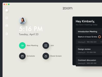 Zoom Mac App Concept design - Sneak peek