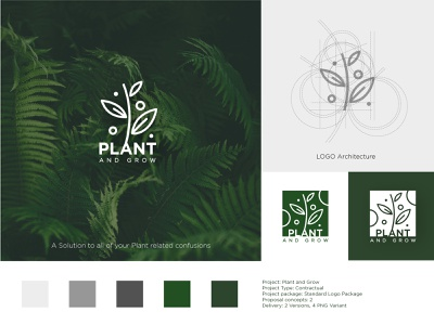 Logo Design: Plant and Grow icon logo illustration graphic design branding vector design