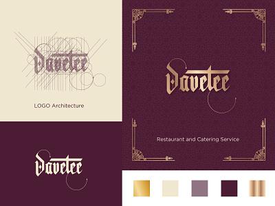 Logo Design: Geometric hand-lettering restaurant food branding graphic design logo design geometric typography caligraphy hand-lettering logo