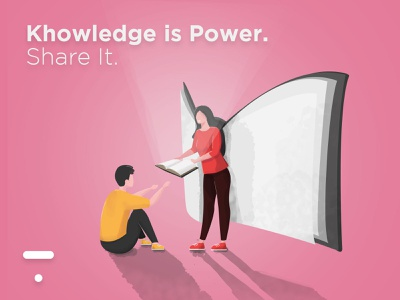 """The Thinkific """"Knowledge is power. Share it."""" challenge! design share power creative challenge thinkific poster illustrator photoshop kindness wings light book knowlegde inspiration vector illustration art illustration vector graphic design"""