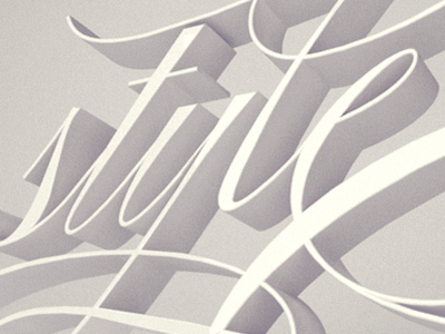 Style 3d typogrpahy 3d typography