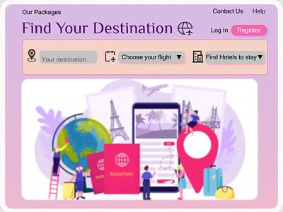 Travel Booking Website Design app design
