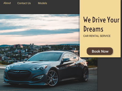 Car Rental Service ux design branding
