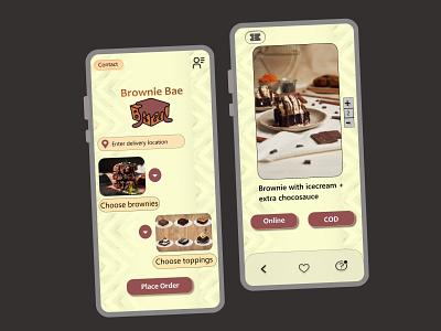 Brownie Ordering App ui design app