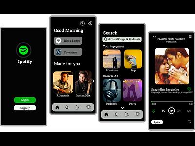 SpotifyApp_Redesign app design ux