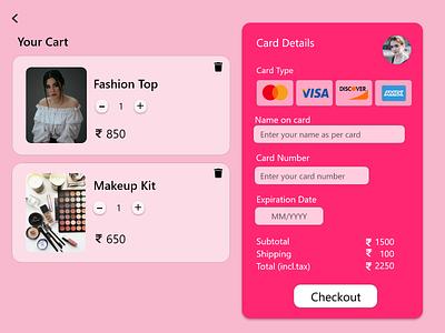 Creditcard Checkout Page ui app design