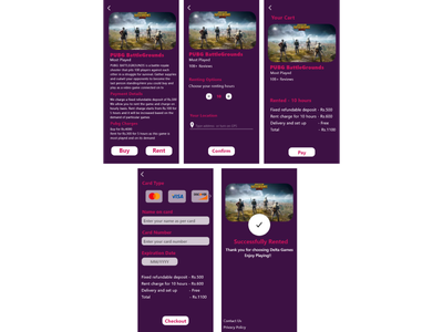 App for a gaming studio app design branding ui ux