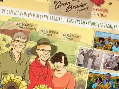 Green Beaver Exhibition Banners organic natural bilingual exhibition banner backdrop hand drawn grassroot
