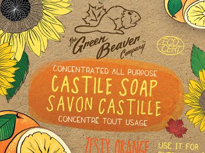 Green Beaver Zesty Orange 4 Liter Label castile liquid soap soap organic