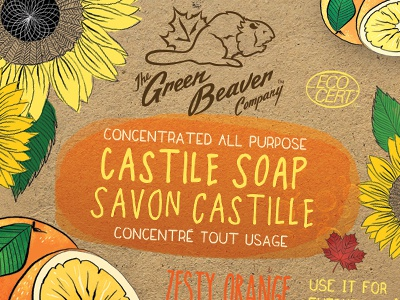 Green Beaver Zesty Orange 4 Liter Label castile liquid soap soap organic