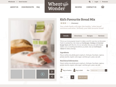 Wheatless Wonder Single Product Page artisan organic gluten-free bakery bread
