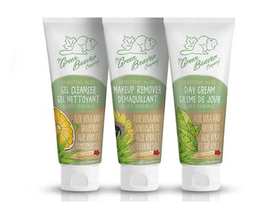 Green Beaver Sensitive Skin Tubes illustration green canadian face care soap organic