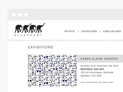 ELLEPHANT website artists exhibition elephant montreal art gallery minimal