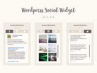 Wordpress Social Widget for Green Beaver's Blog