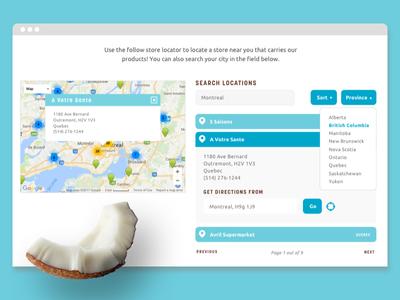 Store Locator for Macaroon Website coconut macaroon treats organic store locator