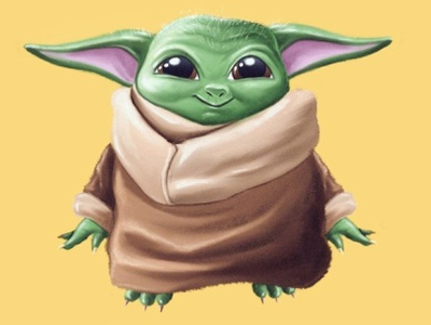 Baby Yoda by Marv Castillo maythefourth illustration art illustrator cute mandalorian baby yoda star wars yoda design vector illustration
