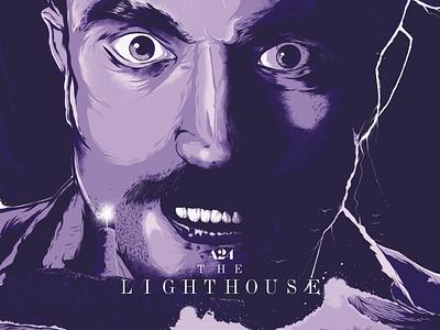 The Lighthouse Poster by Marv Castillo robert pattinson movie poster poster design marv castillo poster illustration type