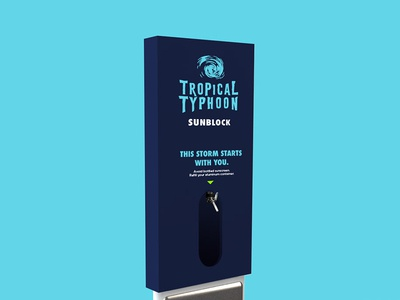 Sunscreen Dispenser Render for Young Lions - Tropical Typhoon
