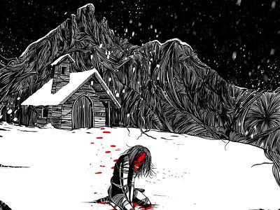 Inktober - Snow illustration ink inktober2019 inktober