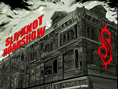 Slipknot Roadshow Tour Poster procreate ink illustration