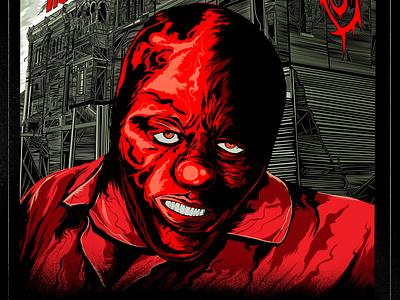Slipknot Roadshow Poster - Clown metal poster clown illustration slipknot