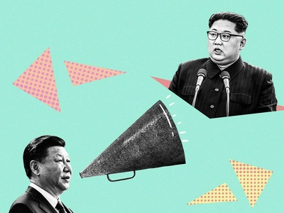 Political Influence pop north korea china trump illustration