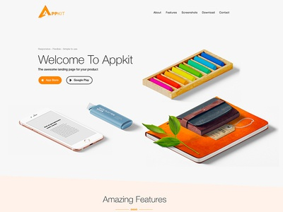 Appkit - Customizable App Landing Page