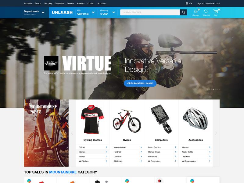 Unleash Store by Igor Zelenetskyi on Dribbble