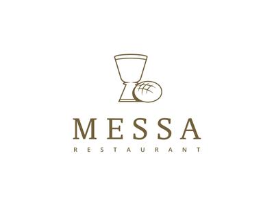 MESSA Restaurant liturgy symbol branding logo bucharest glass goblet wine bread restaurant