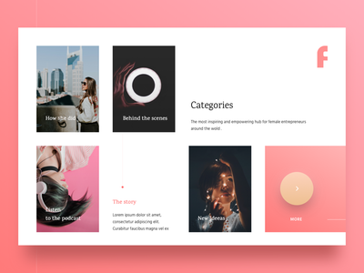 Female Entrepreneur Categories ideeas book podcast girl women f gradient cards entrepreneur female pink