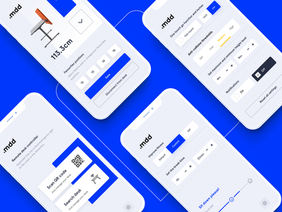 mdd Desk BT: mobile app for the office of the future app design application ios android ux ui app