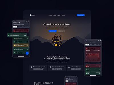 Uptower.io - first version design webdesign ux ui  ux ui