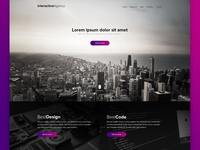 Interactive agency PSD template