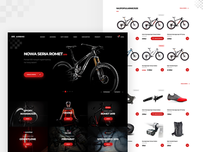 Airbike 🚴‍♀️ shop redesign