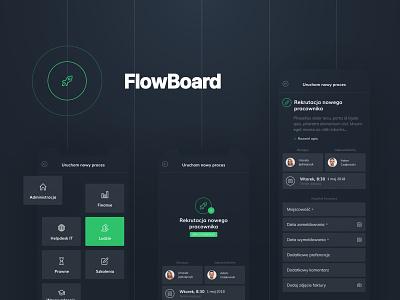 FlowBoard app design web webdesign ux ui