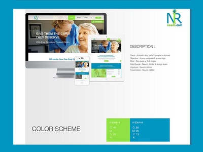 NRI NEEDS website design