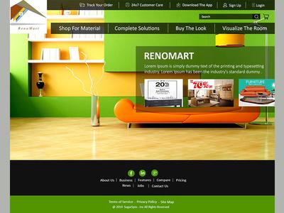 Renomart Website design