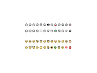 Micro smilies 10x10 px free pack