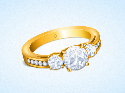 Gifts icon: Gold Ring icon gift ring