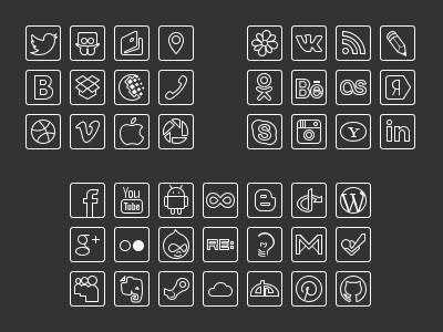 Free social line svg icon